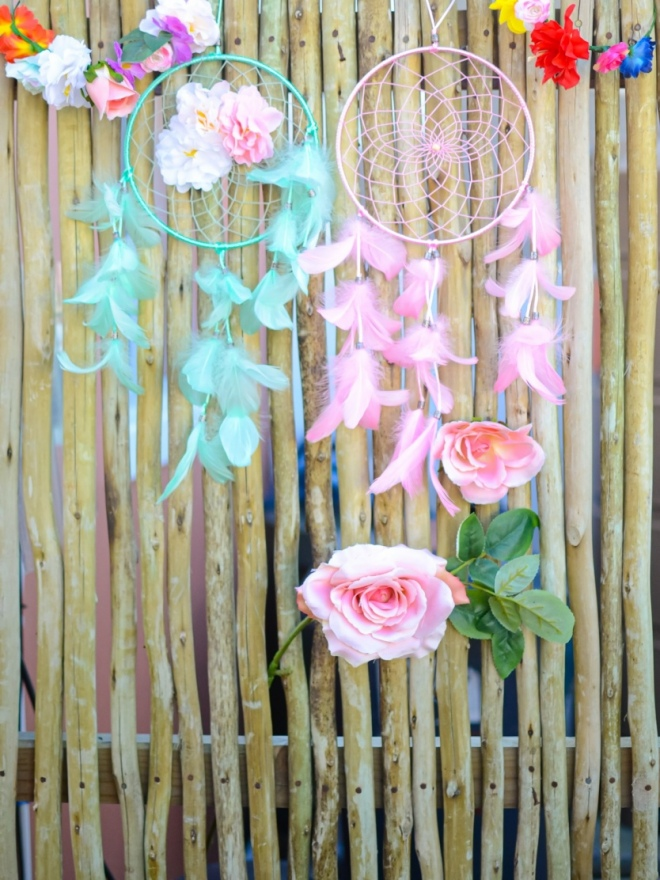 Floral-and-Dreamcatcher-Decor