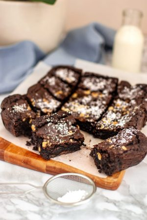 Triple Chocolate and Nut Brownies